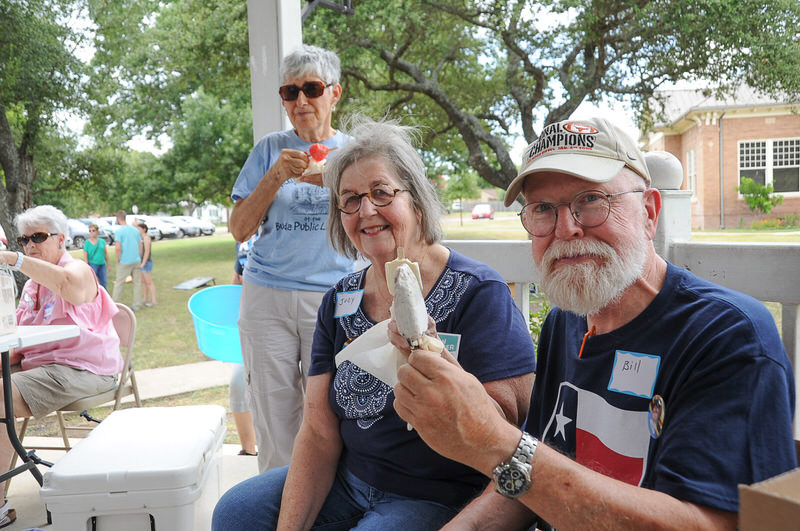 Kyle/Buda-Area Democrats Ice Cream Social on Aug. 5 at the Kyle City Square Park gazebo. Photo by Christopher Paul Cardoza