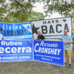 Candidates attending the Kyle/Buda-Area Democrats Ice Cream Social on Aug. 5 at the Kyle City Square Park gazebo.  Photo by Christopher Paul Cardoza