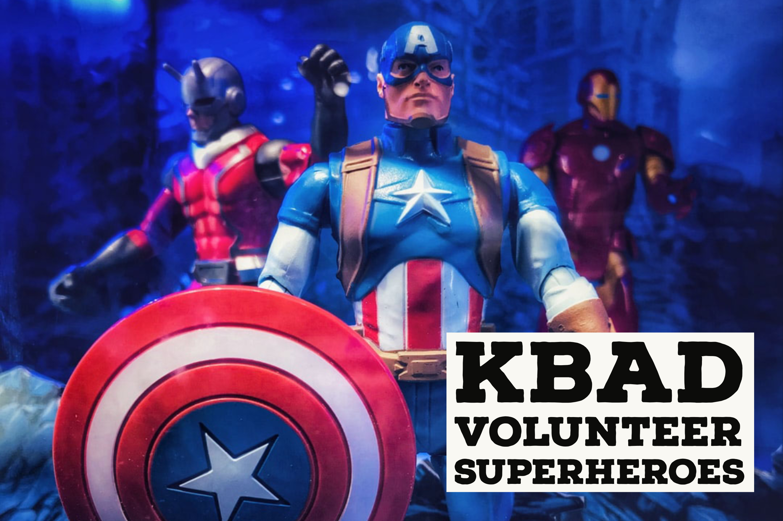 image of superheroes as volunteers