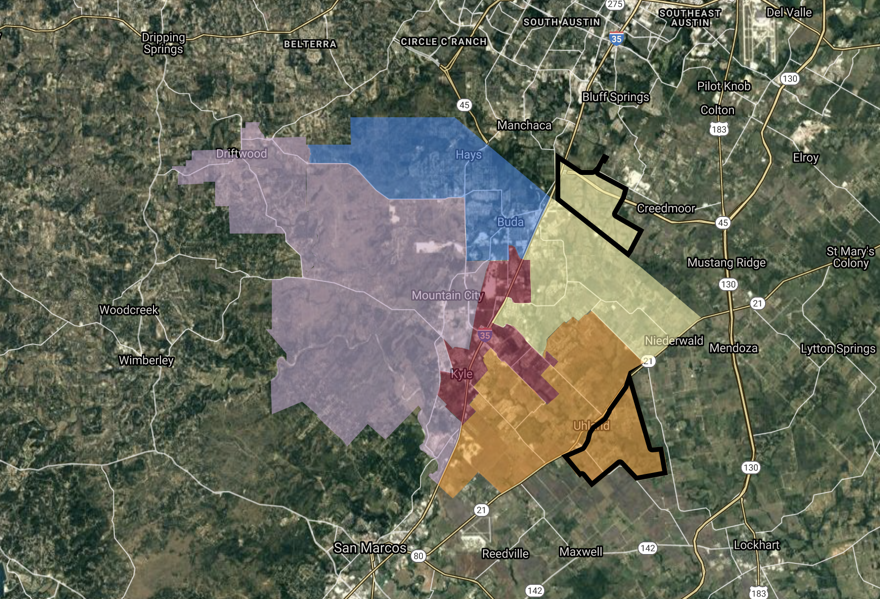 HCISD district maps